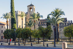Palácios reais de Córdova Foto de Stock Royalty Free