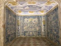 Palà ¡ cio的Nacional在小山的de辛特拉铺磁砖的室,在里斯本上,葡萄牙 图库摄影