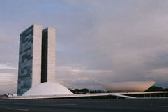 Palà ¡ cio dos Poderes在巴西利亚 免版税库存照片
