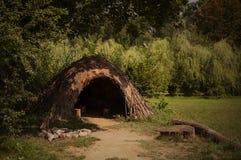 Paläolithische oder neolithische Hütte stockbilder