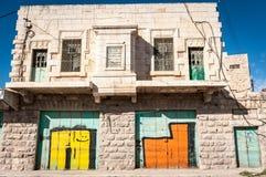 Palästinensische leere Häuser in Hebron Stockbild