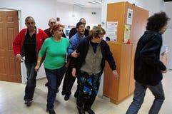 Palästinensische Raketenangriffe auf Israel Stockfotos