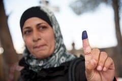 Palästinensischer Wähler Stockfotografie