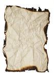 palący krawędzi grunge papier Zdjęcia Stock