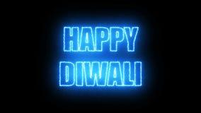 Palący listy Szczęśliwy Diwali tekst, 3d odpłacają się tło, komputerowy wytwarzać dla wakacje świątecznego projekta ilustracji