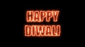 Palący listy Szczęśliwy Diwali tekst, 3d odpłacają się tło, komputerowy wytwarzać dla wakacje świątecznego projekta ilustracja wektor