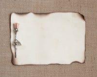 Palący papier z srebrem wzrastał zdjęcia stock