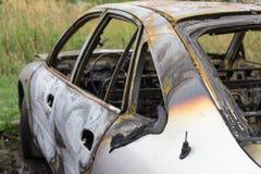 palący samochód palić fotografia royalty free