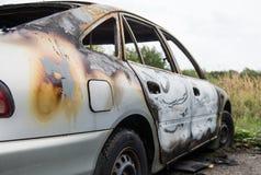 palący samochód palić obrazy stock
