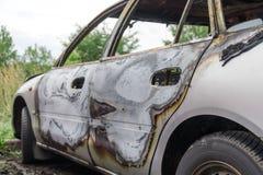 palący samochód palić zdjęcia royalty free