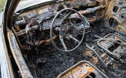 palący samochód palić obrazy royalty free
