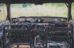 palący samochód palić zdjęcie stock
