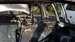 paląc samochody Obraz Royalty Free