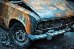 paląc samochody Obraz Stock