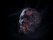 Paląca czaszka Obrazy Royalty Free