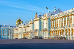 Pal?cio de Catherine em Tsarskoe Selo, Pushkin, St Petersburg, R?ssia imagens de stock
