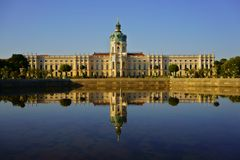 Pal?cio de Charlottenburg, o pal?cio o maior em Berlim, Alemanha foto de stock