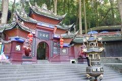 Pal?cio de Jianfu na montanha de Qingcheng fotos de stock
