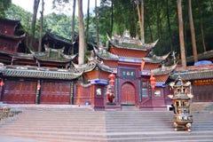 Pal?cio de Jianfu na montanha de Qingcheng foto de stock royalty free