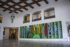 Palácio dos Bandeirantes, Antonio Henrique do Amaral painting - Brazil Royalty Free Stock Photography