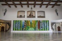 Palácio dos Bandeirantes, Antonio Henrique do Amaral painting - Brazil Royalty Free Stock Images