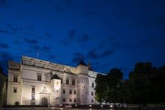 Pal?cio dos duques grandes de Litu?nia em Vilnius imagens de stock