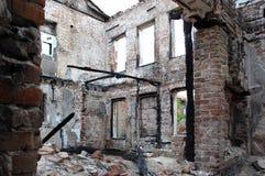 Palący budynek Zdjęcia Stock