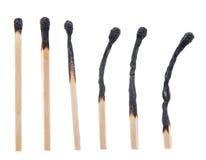 Palący Matchsticks Zdjęcia Stock