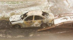 Palący samochód Obrazy Royalty Free