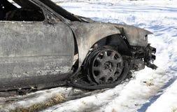 palący samochód obrazy stock