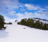Pal ski resort in Andorra Pyrenees. Mountains on sunny day royalty free stock images