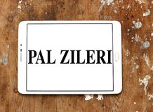 Pal Zileri clothing company logo. Logo of Pal Zileri clothing company on samsung tablet. Pal Zileri is an Italian brand specialized in both formal and casual Royalty Free Stock Photography