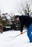 Pala de la nieve Fotografía de archivo libre de regalías