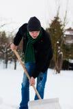 Pala de la nieve Imágenes de archivo libres de regalías
