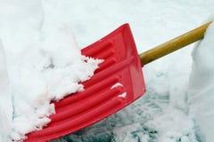 Pala de la nieve. Imagen de archivo libre de regalías