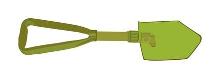 Pala de la práctica aislada en el fondo blanco Herramienta militar de la espada stock de ilustración