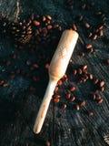 Pala de madera que cocina artesanía en madera Fotos de archivo libres de regalías