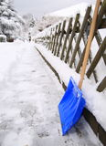 Pala della neve Immagini Stock Libere da Diritti
