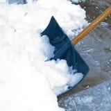Pala della neve Fotografie Stock