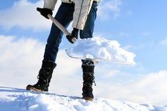 Pala di rimozione di neve Immagini Stock Libere da Diritti