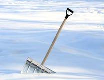 Pala di rimozione di neve Fotografia Stock Libera da Diritti