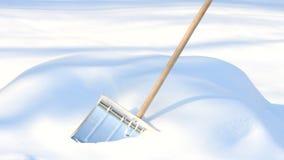Pala di rimozione di neve fotografia stock