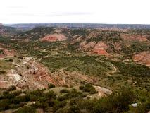 Pala Duro Canyon landscape. Landscape of Palo Duro Canyon seen from rim, Caprock Escarpment, Texas Royalty Free Stock Images