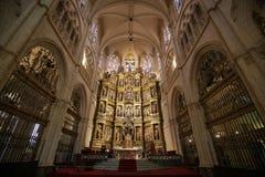 Pala nella cappella principale della cattedrale di Burgos Fotografia Stock