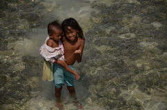 Pala`u society semporna sabah. Who only live on the island near the small town semporna Stock Photography