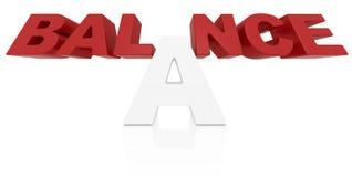 Palabra 3D del balance Fotografía de archivo libre de regalías