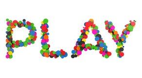 Palabra abstracta del juego Foto de archivo libre de regalías