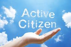 """palabra """"Active de la nube del  de Citizen†Imagen de archivo"""