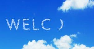 Palabra agradable de la nube en el cielo azul y las nubes blancas libre illustration