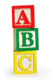 Palabra aislada ABC Foto de archivo libre de regalías